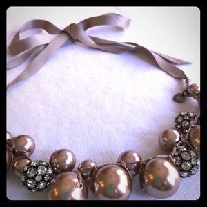 Talbots Pink Pearl Statement Necklace